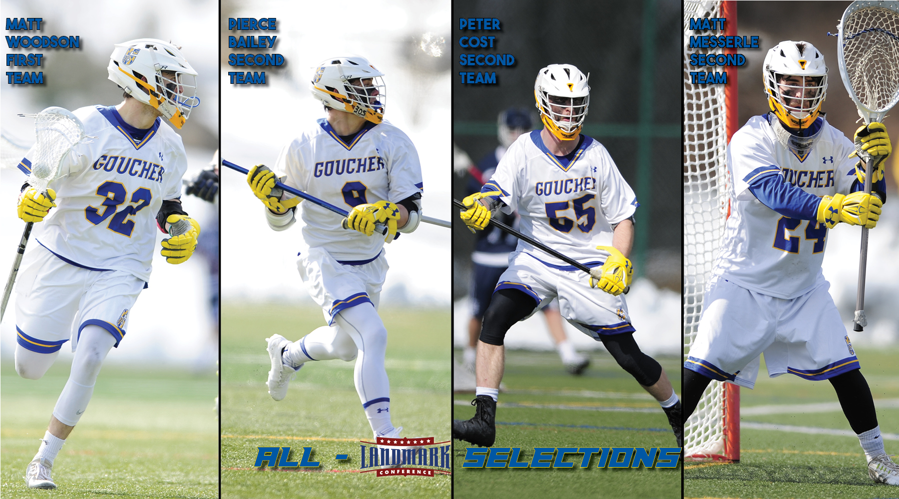 Four Nab Spots on All-Landmark Conference Men's Lacrosse Teams