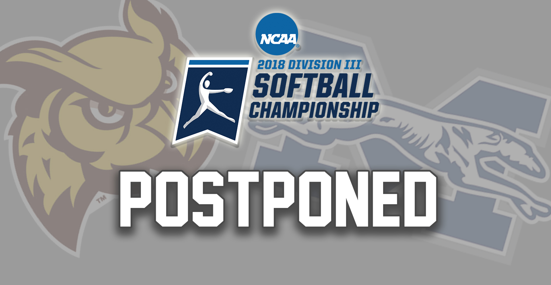 Action between Moravian and Rowan at the NCAA DIII Glassboro, N.J. Super Regional postponed to May 20 by weather.
