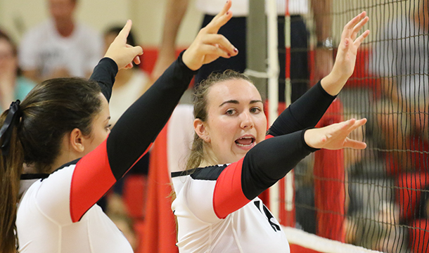 Volleyball Takes Two At Trinity Invitational