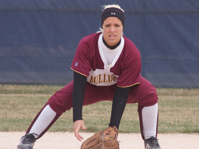 Lynsay Weaver was one of two Bulldog batters to register a multiple-hit game performance.