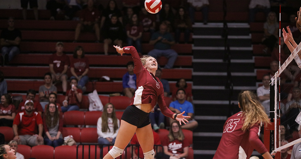 Allison Kantor was named Indiana Invitational Tournament MVP on Saturday. She posted 16 kills and four aces to help the Broncos defeat the host Hoosiers and claim the tournament crown.