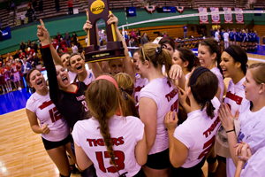 Volleyball With Trophy