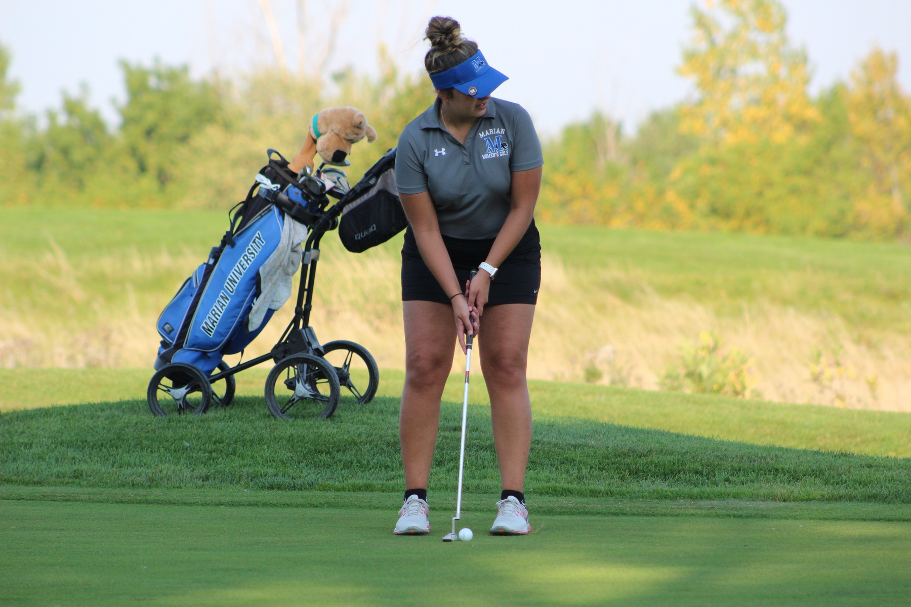 Wise tied for lead after round one of Marian Invite