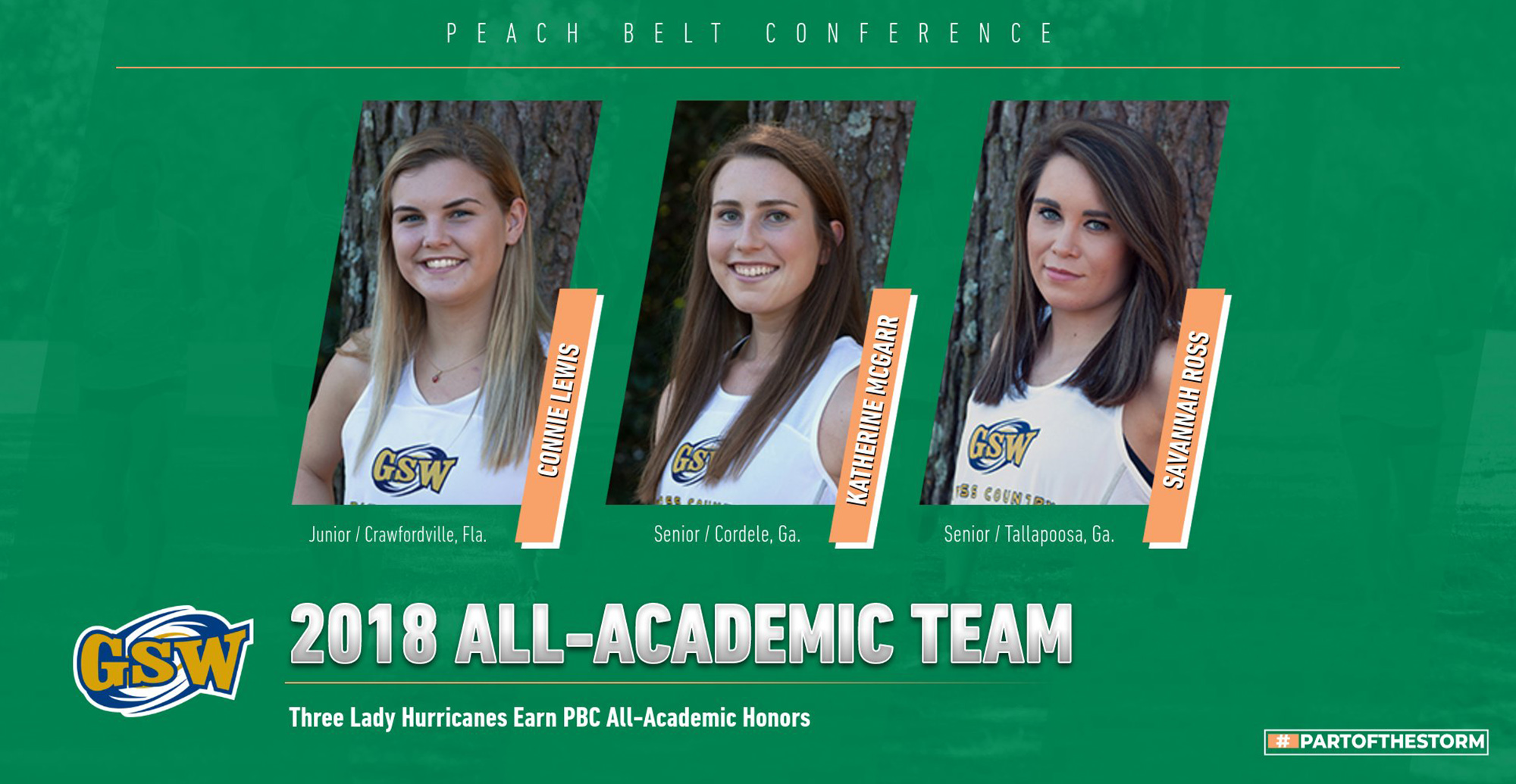 Lady Hurricanes Place Three on 2018 PBC All-Academic Team