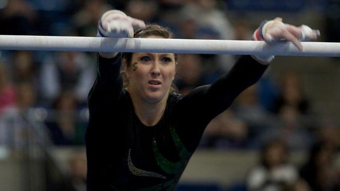 GYMNASTICS' UPSET BID FALLS SHORT AT SAN JOSE STATE