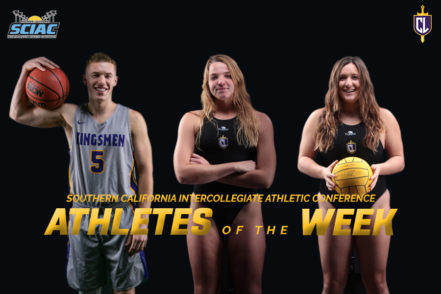 Ferreira, Meyer, Rond Earn SCIAC Athlete of the Week Honors