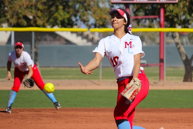 Gabby Lopez delivers a strike Saturday afternoon against Grand Canyon Club team. (photo by Aaron Webster)