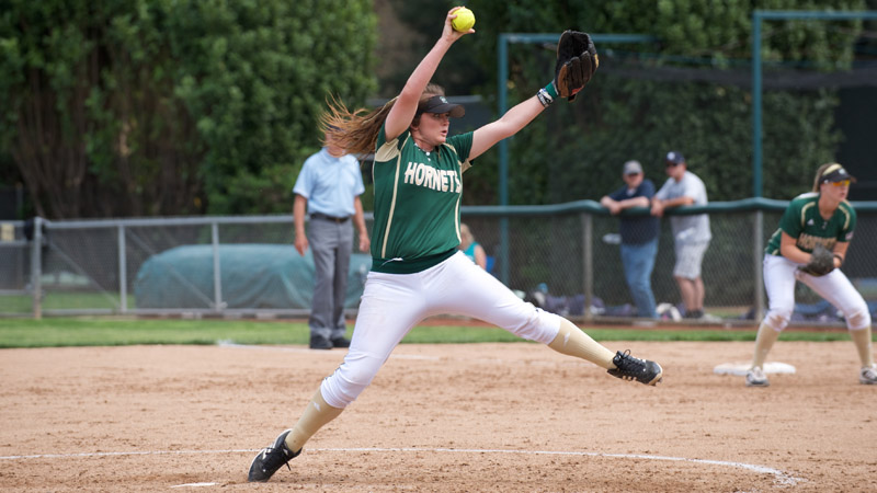 SOFTBALL SPLITS A PAIR OF GAMES IN FIRST DAY OF THE MUSTANG CLASSIC