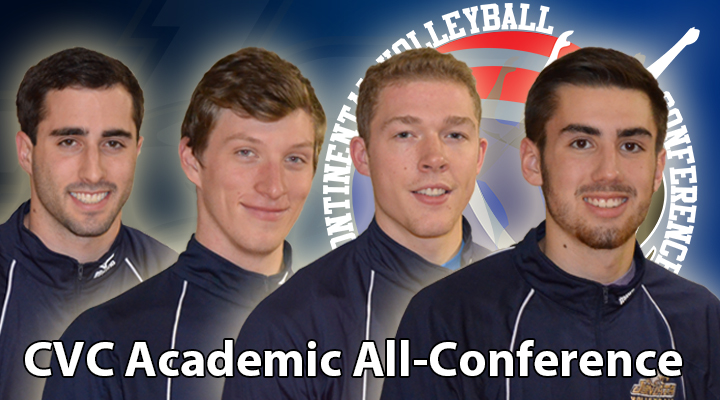 Four Men's Volleyball Players Named Academic All-CVC