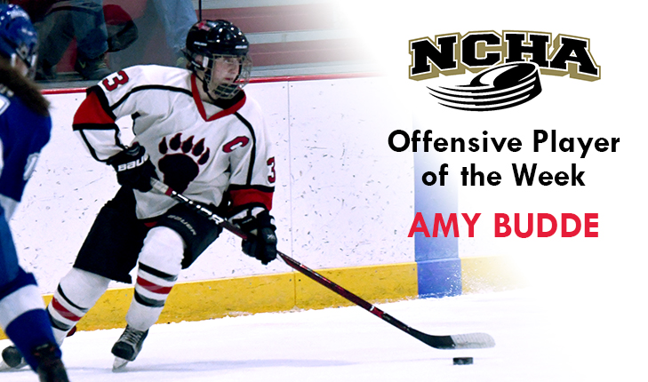 Amy Budde Named NCHA Offensive Player of the Week