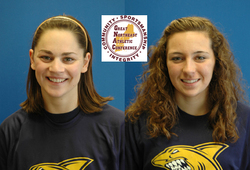 BOSTON, Mass. -- Simmons Swimming and Diving received two honors this week when the Great Northeast Athletic Conference named sophomore Amy Davis Swimmer of the Week and freshman Chloe Davis Rookie of the Week for their efforts against Mount Holyoke College on Saturday, January 14th.