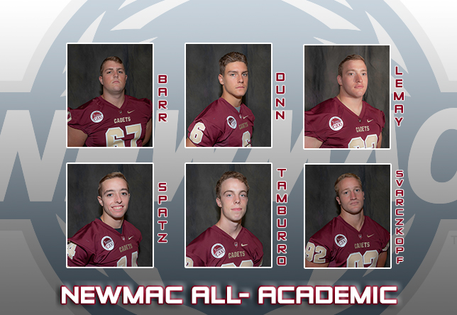 Football: Cadets place six on NEWMAC All-Academic list