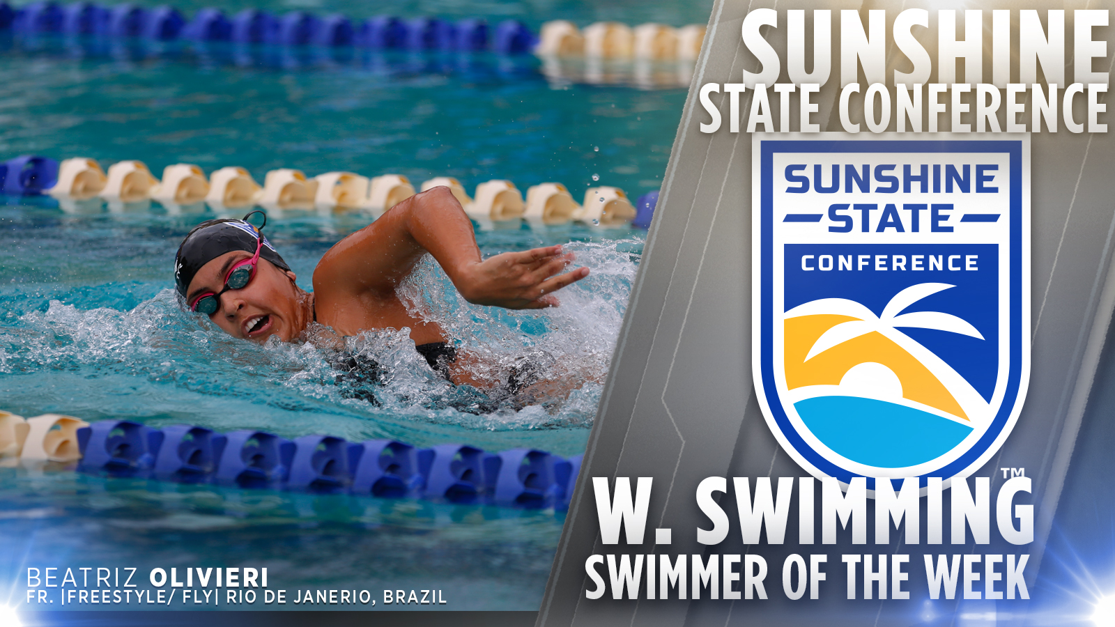 Freshman Women's Swimmer Earns Swimmer of the Week