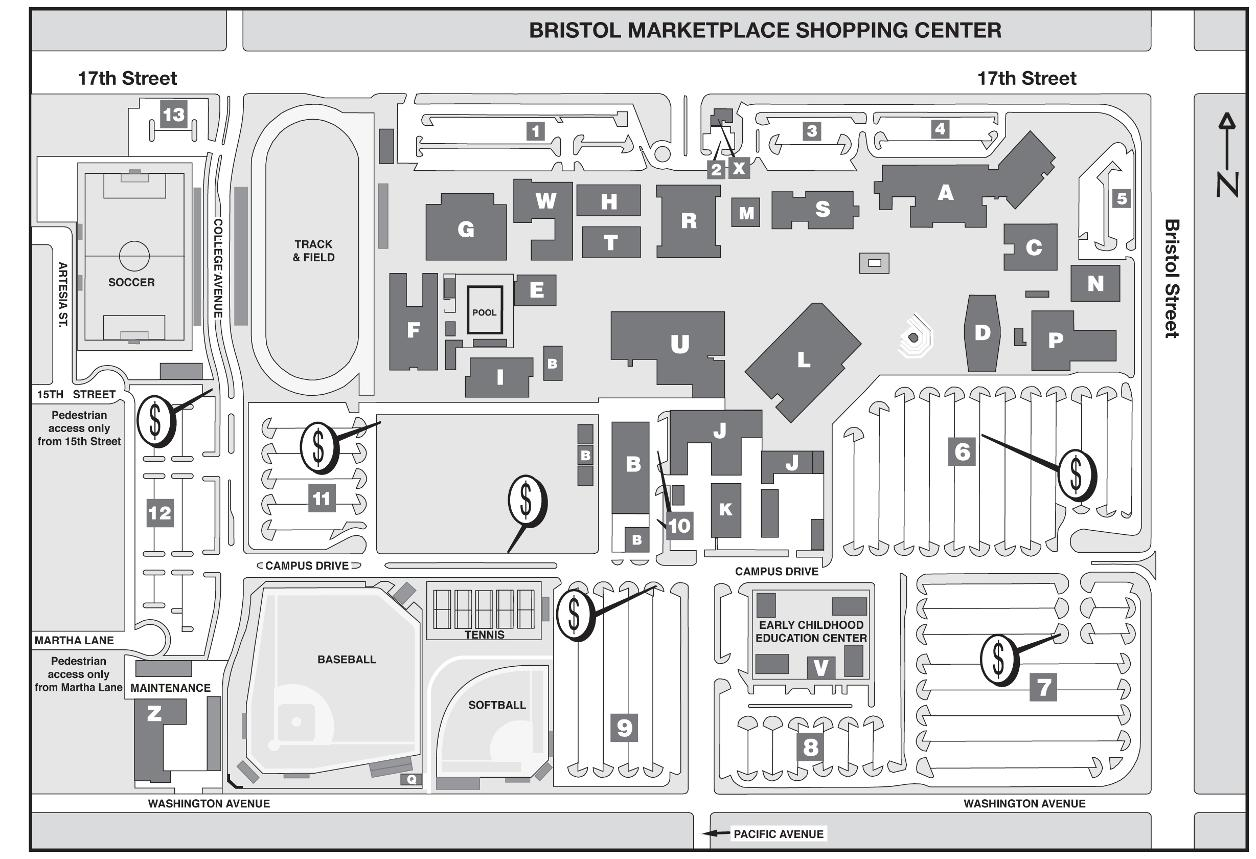 Santa Ana College Campus Map Directions to Campus   Santa Ana