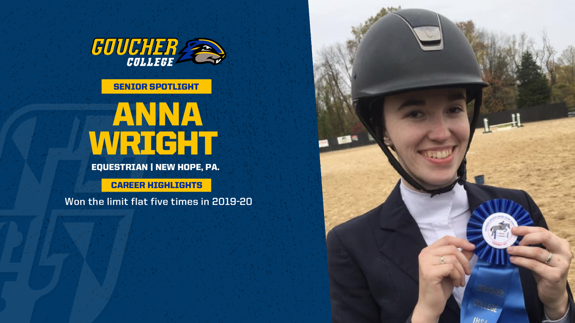 Senior Spotlight: Equestrian Anna Wright