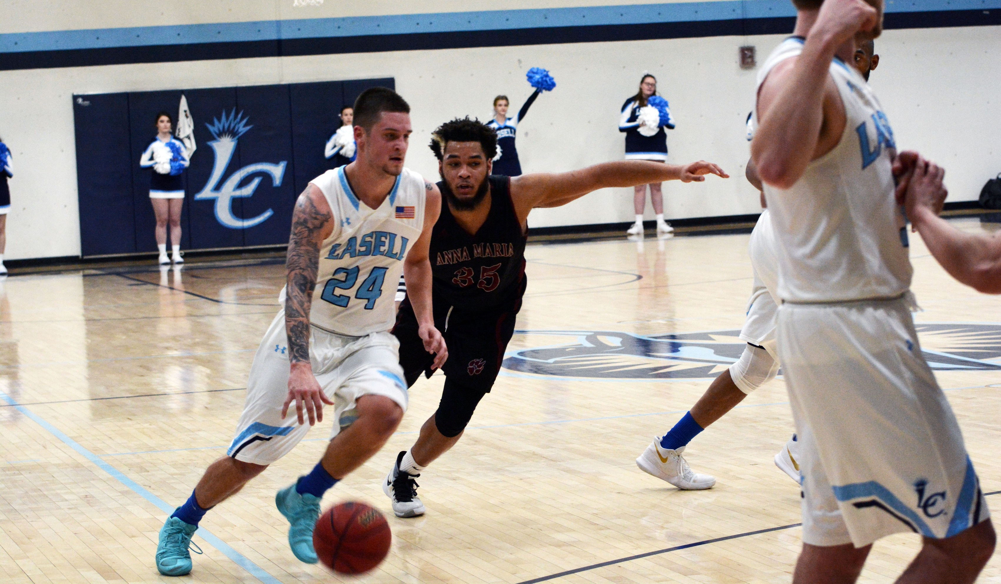 Lasell Men's Basketball comes back to defeat Anna Maria