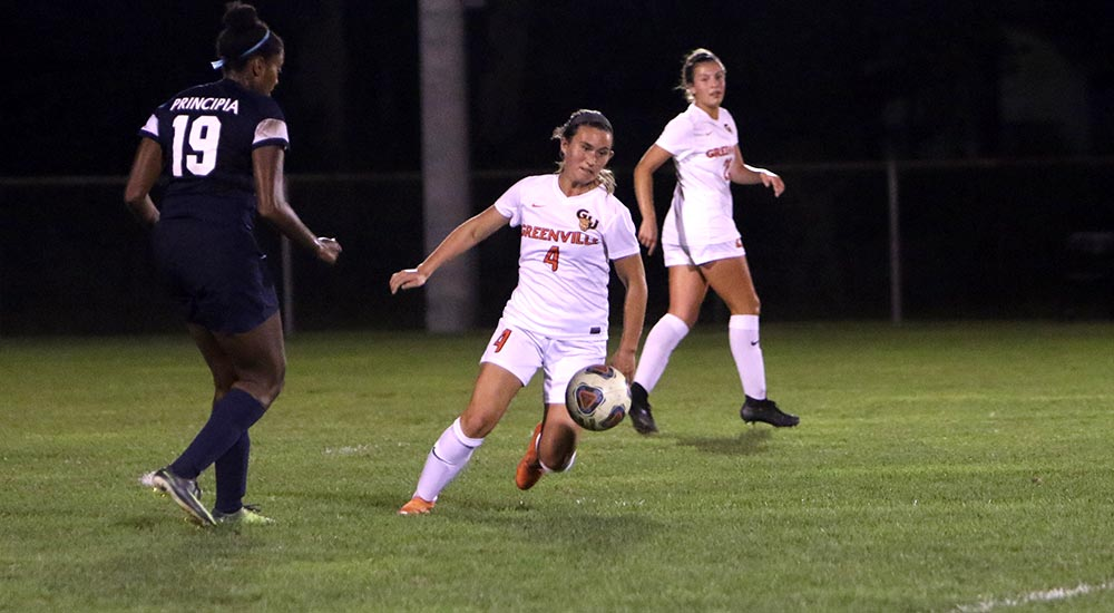 Women's soccer races past Principia