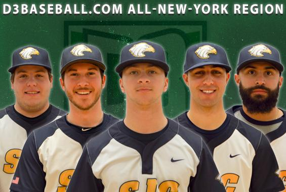 Baseball Places Five on D3baseball.com All-New-York Region Teams