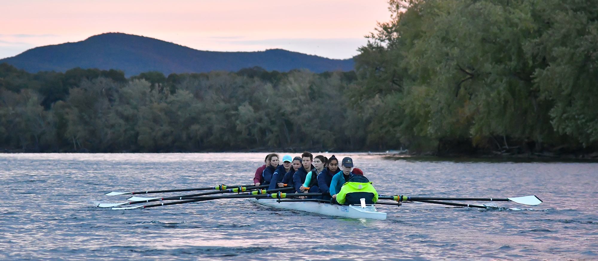 Rowing Competes at Tail of the Housatonic; Lyons Win Varsity Eights