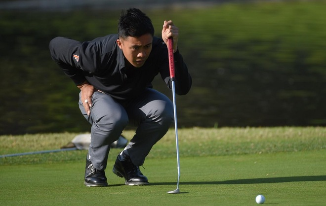 Fullerton in 11th Place After Round Two in Hawai'i