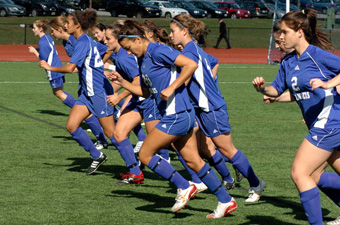 Women's soccer draws with Bridgewater State, 2-2