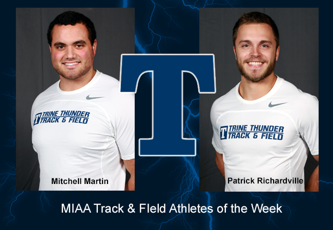 Richardville, Martin Named MIAA Track Athletes of the Week