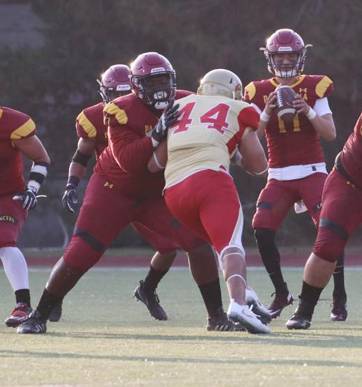 Offensive lineman Demarcus Gilmore is one of nine Lancers football players moving on to 4-year universities for their junior seasons in 2019.