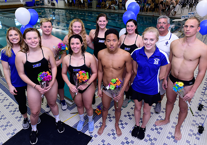 Jones cruises in freestyle events; Saints honor Seniors in final home meet