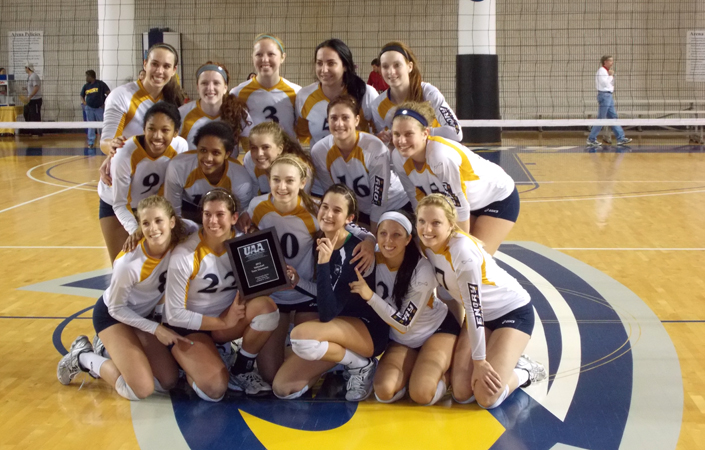 Emory Volleyball Tops No. 1 Wash U To Claim UAA Championship