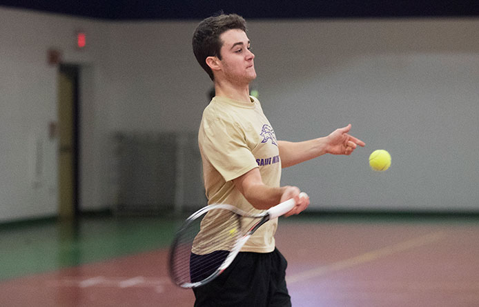 Men's Tennis Concludes NE10 Slate with Loss at Stonehill