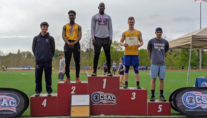 Awards stand for the triple jump