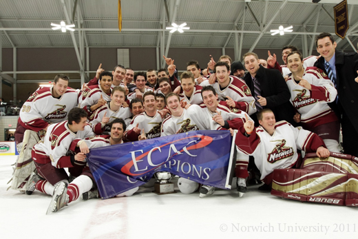 Men's Hockey: Cadets Ranked Third in USCHO.com Preseason Poll