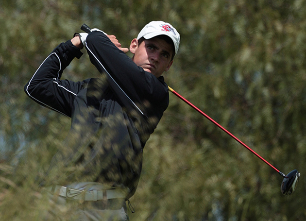 Rick Lamb Cards Four Birdies in NCAA's Second Round