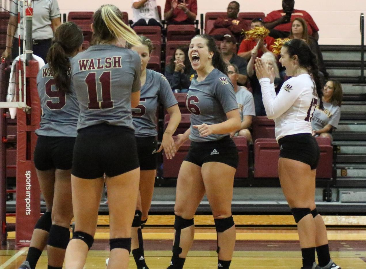 Walsh Volleyball Defeats Rival Malone