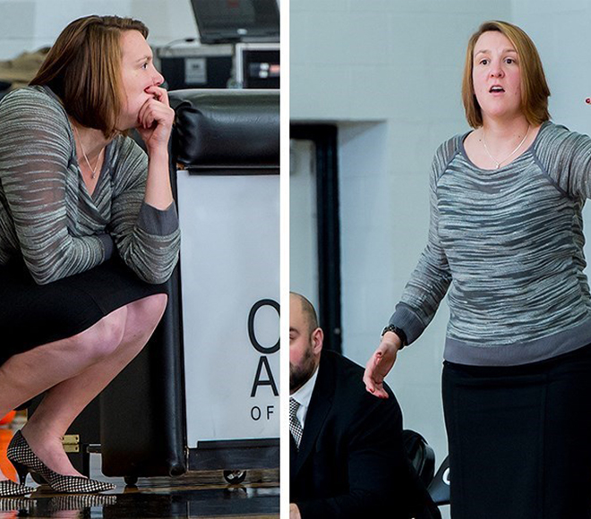 Sarah Cartmill was named head coach of Fredonia women's basketball (Photos courtesy Bard College Sports Information Department)