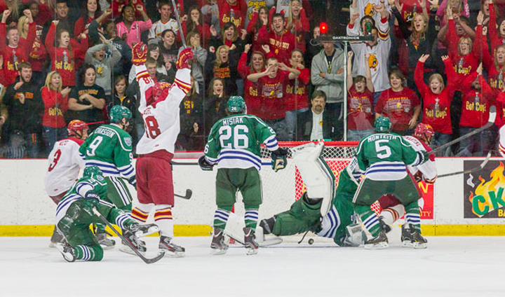 Ferris State Hockey Strikes For Three-Straight Goals To Win Tuesday Road Contest