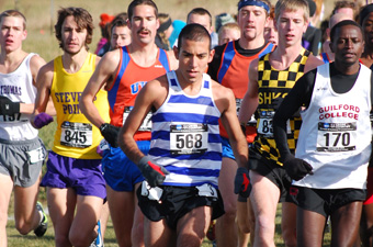 Men's cross country places 16th at nationals