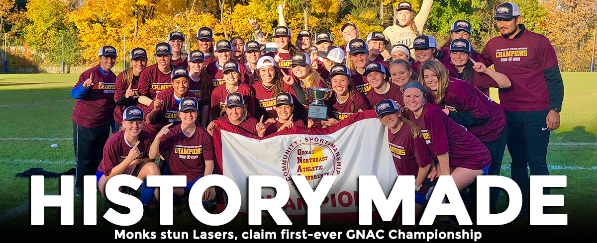 Monks Upset Lasers, Claim First-Ever GNAC Championship