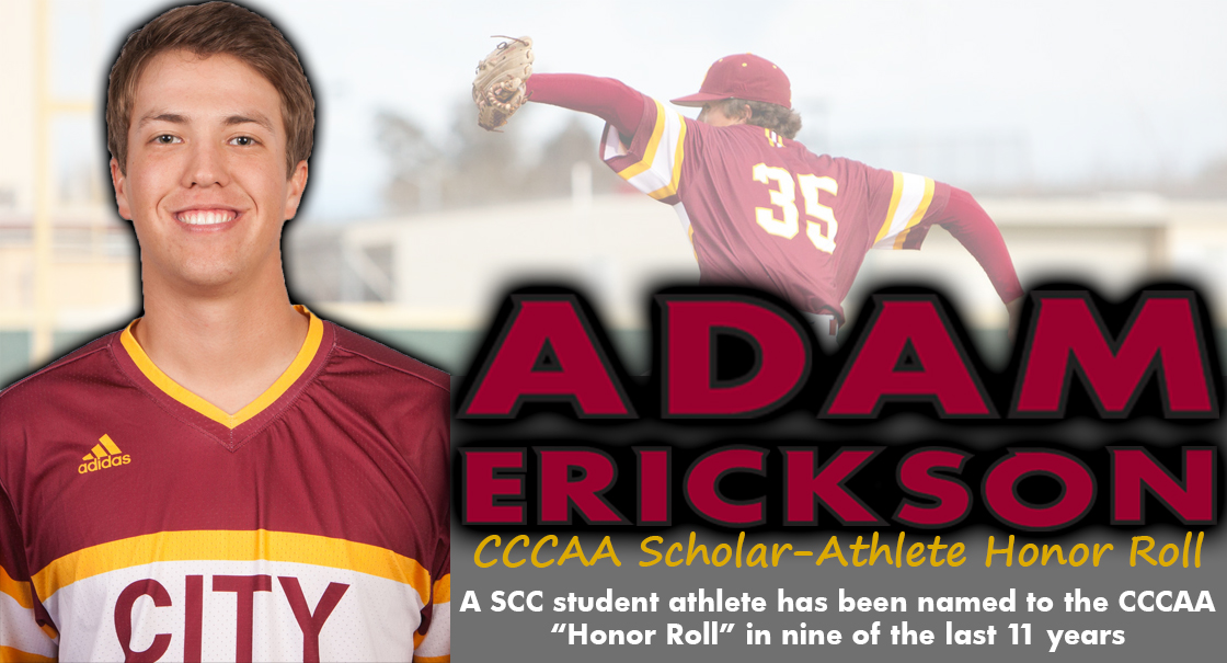 Former Panther, Adam Erickson is a CCCAA Scholar-Athlete Honor Roll selection