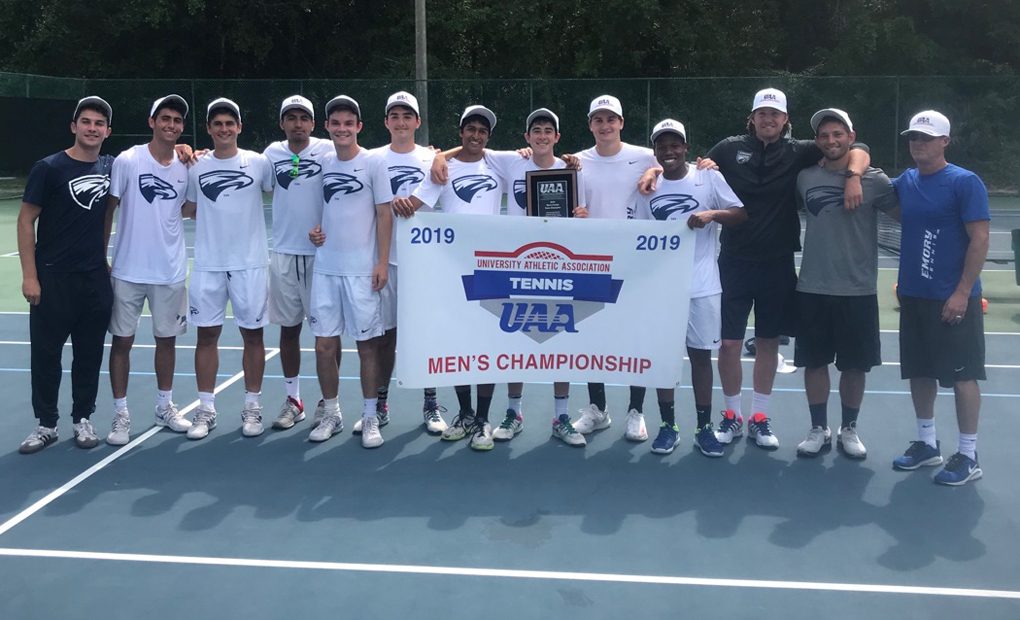Emory Men's Tennis Wins UAA Championship With Finals Win Over Brandeis