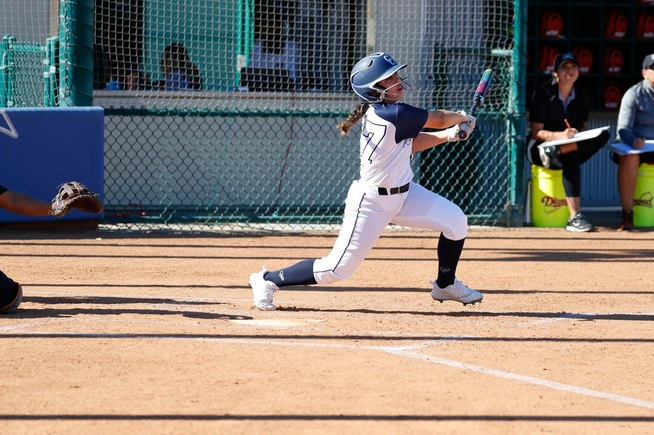 File Photo: Aliya Velasquez had two hits for the Falcons