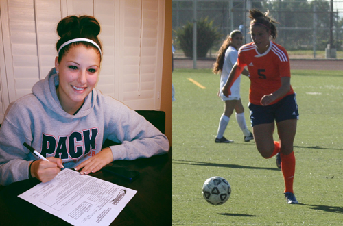 Freshman Kacie Licata has signed a scholarship offer with Colorado State University-Pueblo.