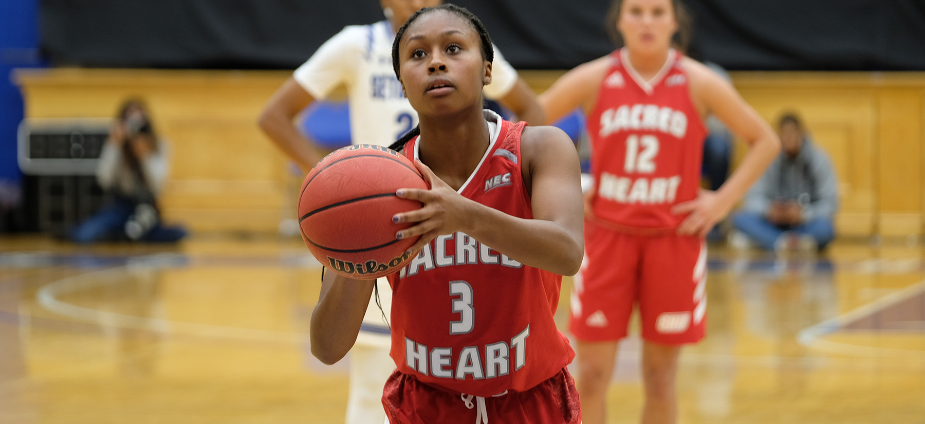 Nikki Johnson scored a career-high 25 points in her Pioneer debut. (Credit: SHU Athletics)