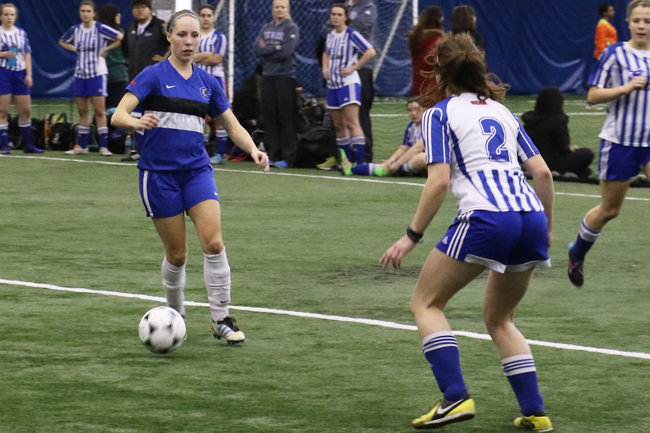 Women's indoor soccer can't find scoring touch at final tune up