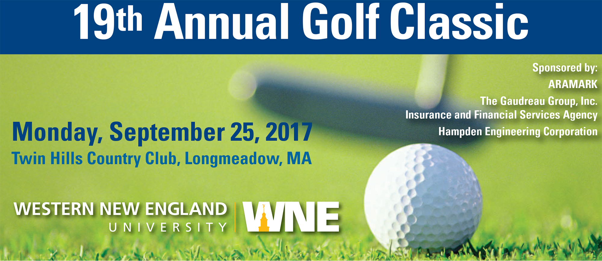 Western New England to Hold 19th Annual Golf Classic on Monday, September 25th
