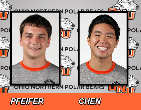 Eric Chen, Logan Pfeifer lead No. 30 men's Swimming and Diving in dual meet at Mount Union