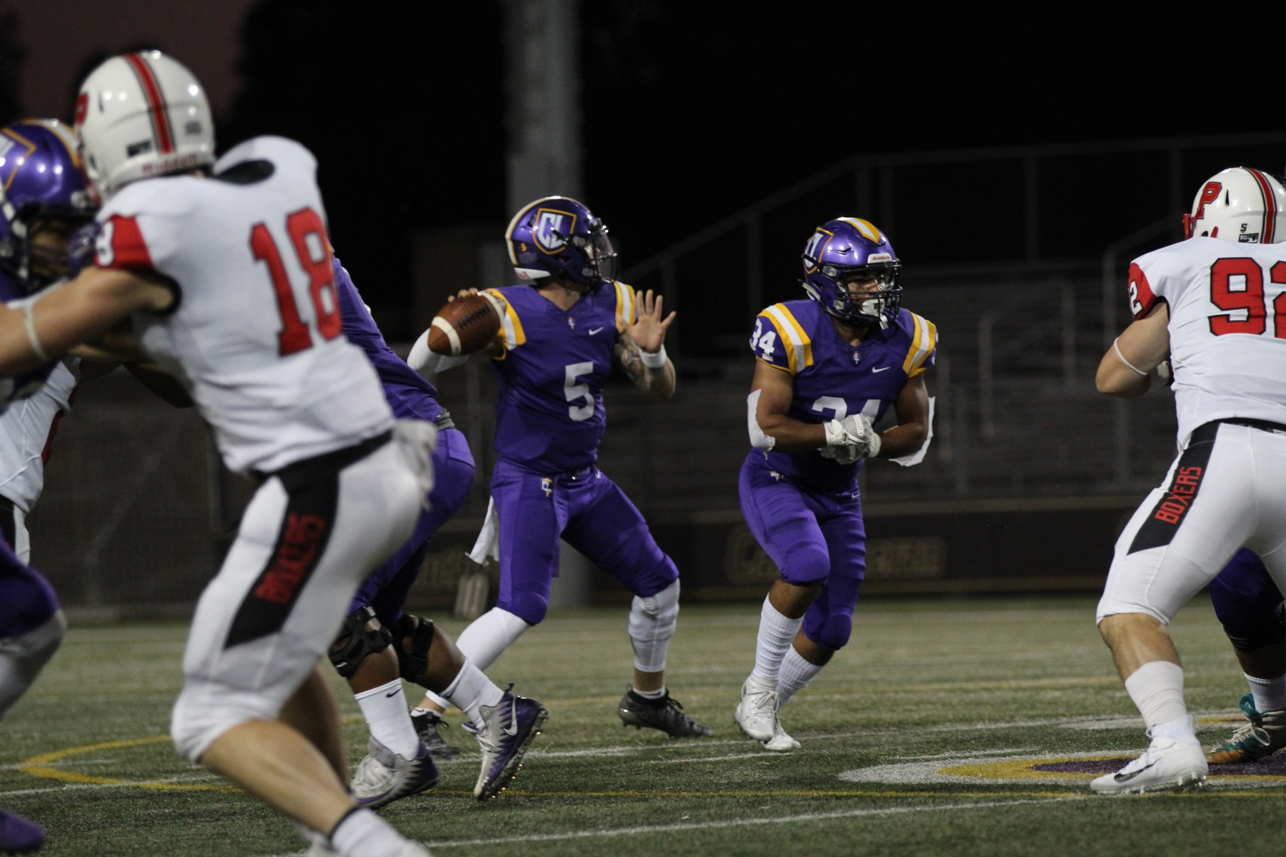 Quarterback Cesar De Leon threw six touchdowns against Pacific, tying the program's single-game mark. (Photo: Kylie McEnroe)