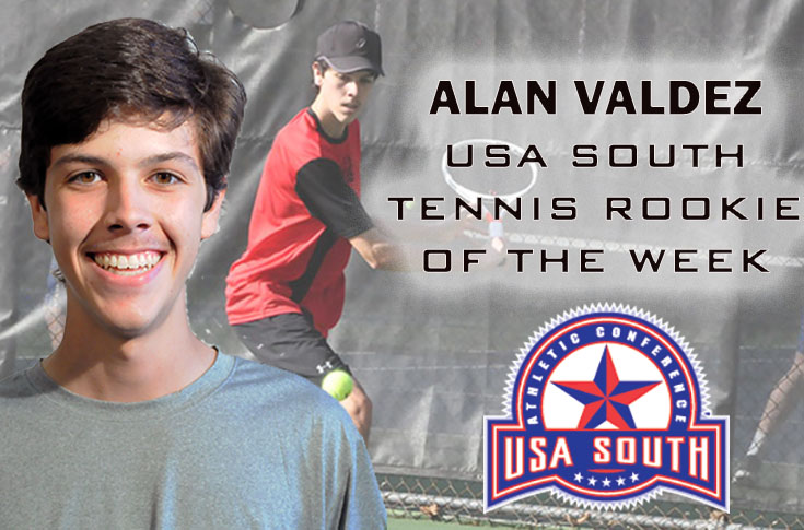 Men's Tennis: Alan Valdez named USA South Rookie of the Week