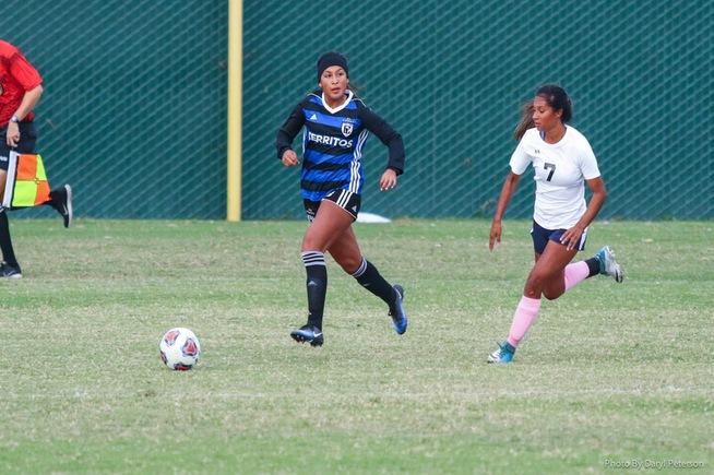 File Photo: Itzel Ballesteros scored twice in the Falcons win