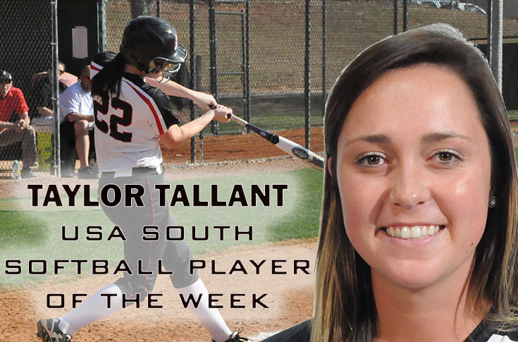 2017-18 in Review: Taylor Tallant named USA South Softball Player of the Week